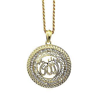 18 carate placate cu aur lanț Allah musulman farmec Islam