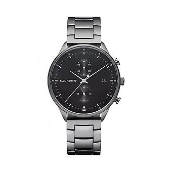 PAUL HEWITT - Armbanduhr - Damen - CHRONO BLACK SUNRAY GUN METAL - PH002815