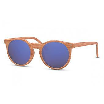 Okulary przeciwsłoneczne Unisex Panto Cat.3 Brązowy/Niebieski/Fioletowy (CWI1404)