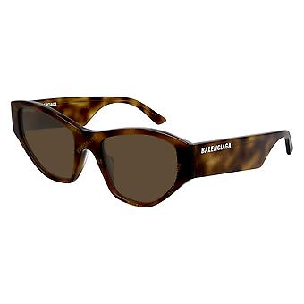 Balenciaga BB0097S 003 Havana/Brown Sunglasses