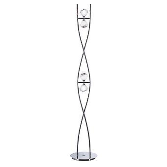 Inspired Mantra - Fragma - Floor Lamp 4 Light G9, Polished Chrome