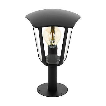 1 Light Outdoor Pedestal Light Black IP44, E27