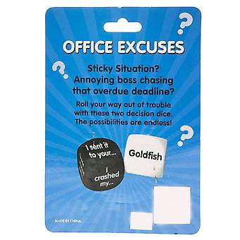 Decision Dice - Office Excuses - Humorous Gift Item