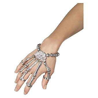 Womens Skeleton Hand Bracelet Halloween Fancy Dress Accessory