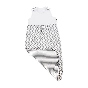 Puckdaddy Sleeping Bag Svea 90cm Long 100% Cotton Chevron Pattern in White Grey