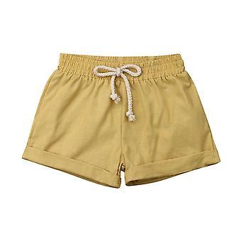 Kleinkind Kinder Harem Hose - Baumwolle & Leinen Shorts, Neugeborenes Baby / kurze Hose