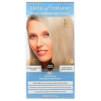 Tints of Nature Permanent Hair Color, 8C Light Ash Blonde 4.4 Oz