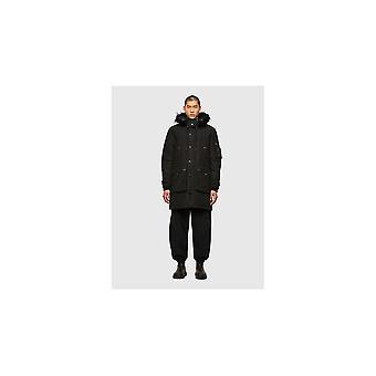 Diesel W-colby Parka Fur Black Jacket