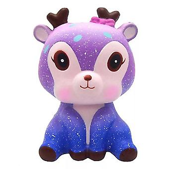 Jumbo Colorful Galaxy-deer Squishy Slow-rising Squeeze-toys,  Anti Stress Toy