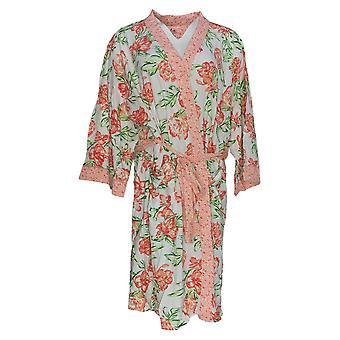 Aria Women-apos;s Robe Imprimé Jersey Short Wrap W/ Pockets Rose 636-987
