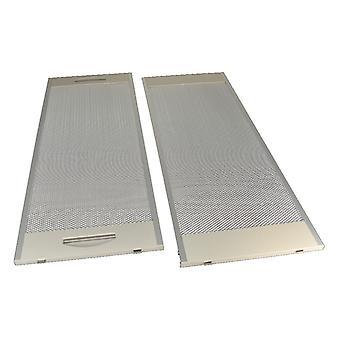 Universal Cooker Hood Metal Grease Filter 188mm x 500mm Pack de 2