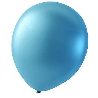Sassier balloons latex light blue metallic 24-pack