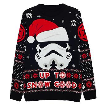 Star Wars Christmas Stormtrooper Up To Snow Good Men's Knitted Jumper | Marchandises officielles