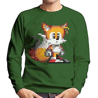 Sonic The Hedgehog Tails Pixelated Stance Men's Sweatshirt