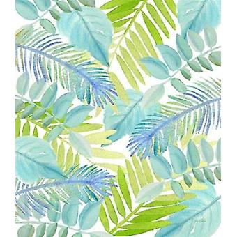 Watercolour Tropical Pattern 3 Poster Print by  Mary Escobedo