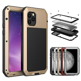 For iPhone 11 Metal Armor Triple Proofing  Protective Case(Gold)