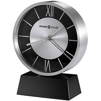 Howard Miller Davis Tabletop Clock - Black/Silver