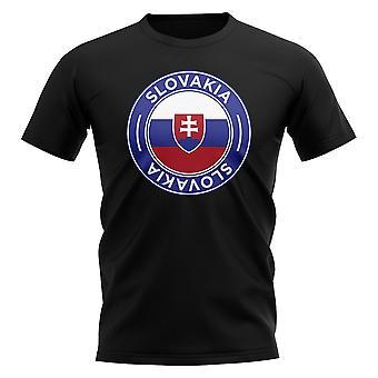 Slovakia Jalkapallo Merkki T-paita (Musta)
