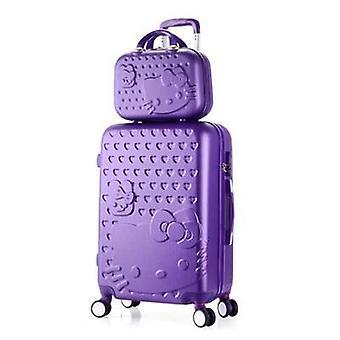Adorável Bolsa cosmética Hello Kitty Bagagem / Kt Cat Caso de Viagem