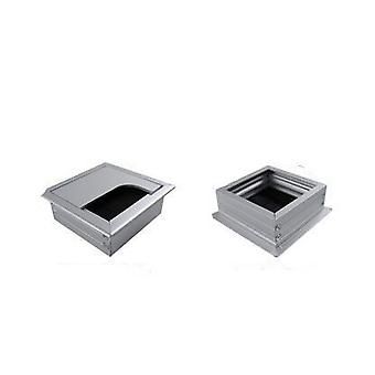 Rectangular Aluminum Alloy Desk Wire Hole Cover/cable Organizer