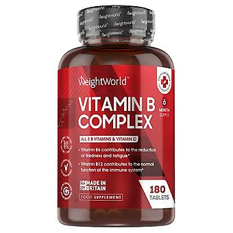Vitamin B Complex - 180 Tablets (6 month supply)