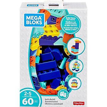 Mega Bloks Let's Build Building Blocks Set 60 Piece