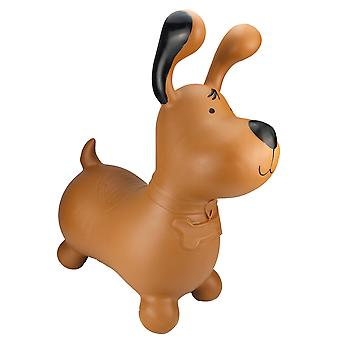 Happy Hopperz Inflatable Bouncy Ride On Toys - Brown Dog