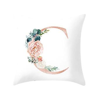 Decoratieve Alfabet Print Kussen - Bank, Home Decoration Flower Pillow Kussen