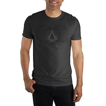Assassin's creed borromean triangle symbol t-shirt tee shirt for men