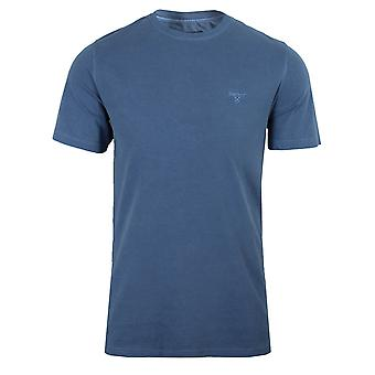 Barbour men's marine blue garment dyed t-shirt