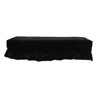Piano Double Stool Dust Cover Black Protective   Lace Design Dustproof   Scratch Resistant