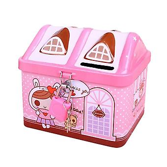 Key Lock Money Box