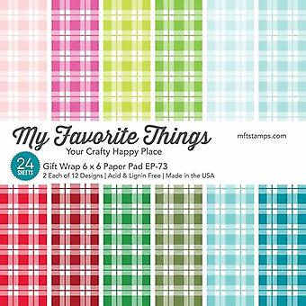 My Favorite Things Gift Wrap Paper Pad 6x6 Inch