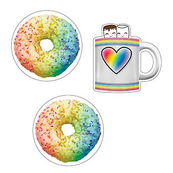 Industrial Cafe Donuts And Cocoa Mugs Cut-Outs, Pack Of 36