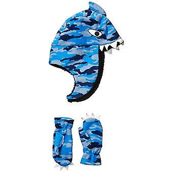 Spotted Zebra Boys' Kids Fleece Hat Mittens Cold Weather Accessories, Shark S...