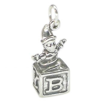 Jack In The Box Sterling Silver Charm .925 X 1 Childs Toys Charms - 1657