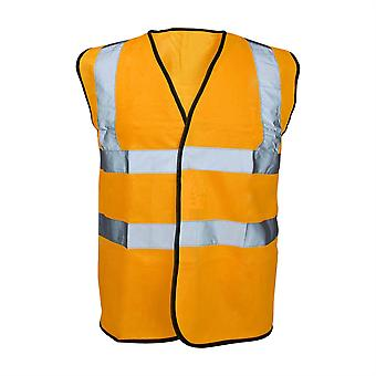 Reflective Bib Vest Fluoro Orange