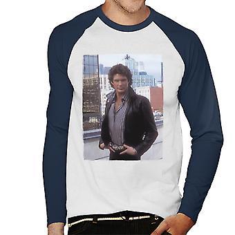 Knight Rider City Headshot Män's Baseball Långärmad T-shirt