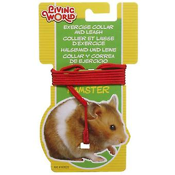 Living World L.W. COLLAR IN RED FOR HAMSTERS (Small pets , Leads & Harnesses)