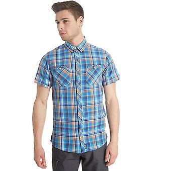 New Regatta Men's Ryland Casual Short Sleeve Shirt Blue