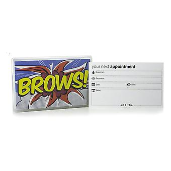 Agenda Brows Appointment Cards (Pack Of 100)
