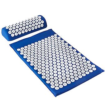 Acupressure mat and Acupressure cushion - Blue