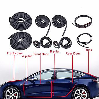 Auton oven tiivistysnauhasarja - äänieristetty melu, tiiviste Tesla Model-3: lle, ulkopuoli