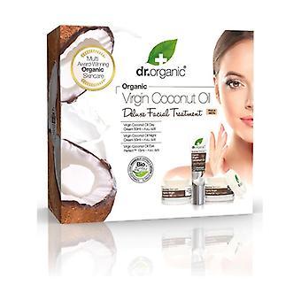 Virgin Coconut Oil Deluxe Facial Day Cream 50ml + Eye Contour 15ml + Night Cream 50ml 3 units
