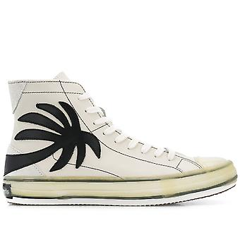 Palm Leather High-Top Sneakers