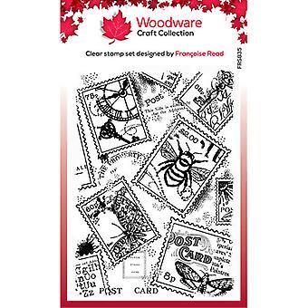 Holzwaren klar Briefmarken - Singles - Briefmarken Hintergrund