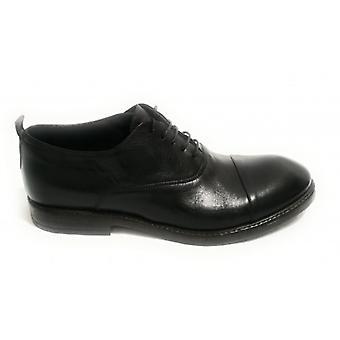 Shoe Cavallini Francesina Man Scamiciata Black Leather Hand Made U19ca02