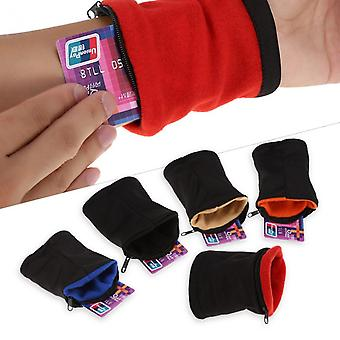 Cotton Running Wrist Pouch Breathable Wallet Card Safe Bag