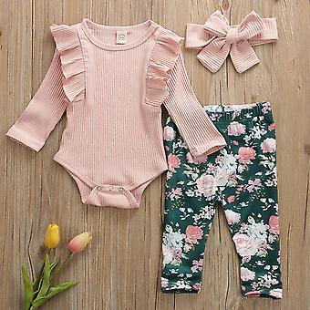 Newborn Baby Clothes, Cotton Romper Tops Pants