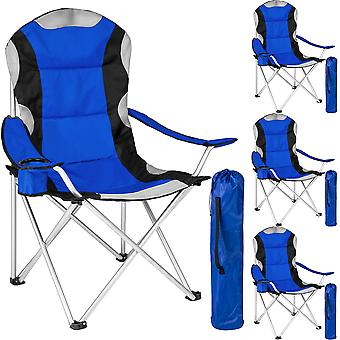 tectake 4 Campingstole polstret